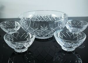 Antique Service A Salad Cup Bowl 4 Cups Crystal Size Baccarat?