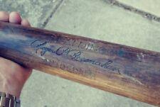 1909 Antique Baseball Wooden Bat Spalding Autograph Roger P. Bresnahan