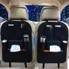 Car Seat Back Bag Organizer Storage iPad Phone Holder Multi-Pocket Hanging Black