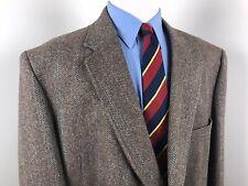 Vintage Austin Manor Tweed Brown 2 Button Sport Coat Blazer Men's 56 Long Vented