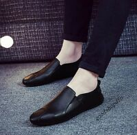 Mens PU Leather Comfort Breath Slip On Loafers Casual Drive Shoes Size UK5.5-8.5