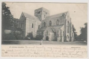 Hampshire postcard - St Cross Church, Winchester - P/U (A945)
