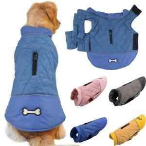 Waterproof winter dog warmer coat Vest jacket dog warm clothes padded