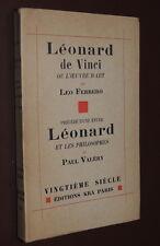 LEO FERRERO / PAUL VALERY - Léonard de Vinci ou l'oeuvre d'art - E.O. Kra 1929