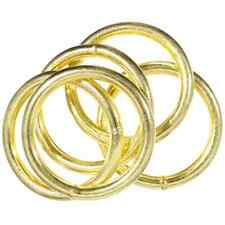 Welded Brass Plated O-Rings - Great for Crafting, Jewelry, & More - Craft County