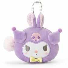 Kuromi Sanrio [New] Face Shaped Pouch (Rabbit) Kawai Gift Japan Free Shipping