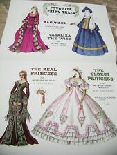 Vtg Paper Dolls Original1988 Fairy Tales by Pat Stall Rare Set Convention?