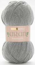 Hayfield Bonus Aran With Wool Yarn 400g Balls - Choice of Shades 997 Celtic Grey