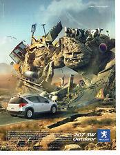 Publicité Advertising 078  2008    La Peugeot 207 SW Outdoor