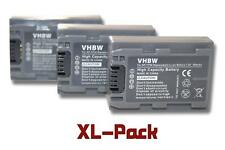 Set de 3 batteries vhbw 600mAh pour Caméscope Sony DCR-HC1, HC1E, DCR-HC3, HC3E,