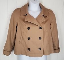 Daughters of the Liberation Jacket size Small tan double breasted button front