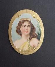 Ancienne étiquette BOITE DE CIGARE élégante ovale old box cigar label