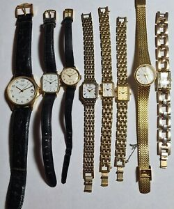 JOB LOT OF Watches 8 Rotary, 1 MENS 7 LADIES,1 MECHANICAL 7 QUARTZ,ALL UNTESTED