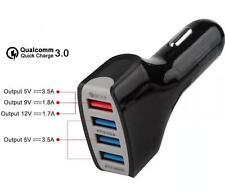 Cargador 35W 4x USB de Coche Carga Rápida Qualcomm QC 3.0 Adaptive Fast Charging