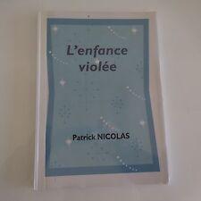 Manuscrit livre artiste P. NICOLAS L'enfance violée