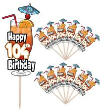 104th Birthday Cocktail Party Food Cupcake Cake Picks Sticks Decorations Toppers