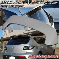 MS Style Roof Spoiler Wing + Red LED Fits 04-09 Mazda 3 5dr