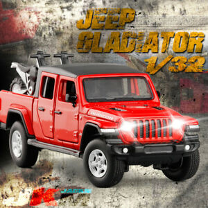 1/32 Jeep Rubicon Gladiator Pickup Die-cast Model Car Toy Collection Sound&Light