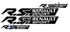 4 Stickers RS RENAULT SPORT Clio Captur Twingo Megane