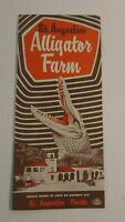 Vintage Travel Brochure Alligator Farm St Augustine Florida 1940's Advertising