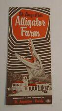 Vintage Travel Brochure Alligator Farm St Augustine Florida 1940's Advertising