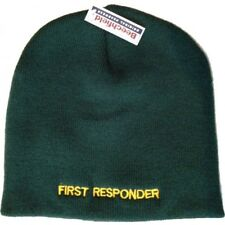 FIRST RESPONDER Green Beanie Hat one size Beechfield Groups Embroider