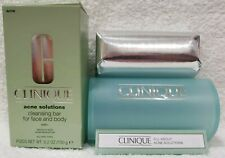 Clinique Acne Solutions CLEANSING BAR Face Body Step1 Medication 5.2 oz/150g New