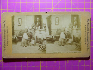 Antique Stereoscope Photograph 'Dear That's Me When I Was Young' Universal View