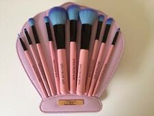 Makeup Brushes 10 Piece Set Mermaid Clam Case