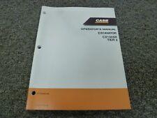 Case CX135SR Tier 3 Hydraulic Excavator Owner Operator Maintenance Manual