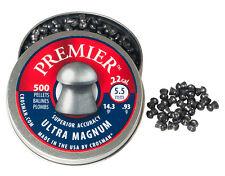 CROSMAN PREMIER ULTRA MAGNUM .22 5.5 mm 500 pcs. 14.3 gr 0.93 g AIRGUN PELLETS