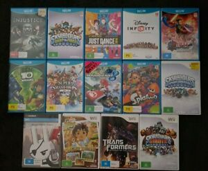 Nintendo Wii and Wii U Games - Supersmash Mariokart Just Dance Marvel HotWheels