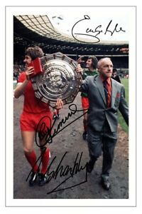 HUGHES CLEMENCE & SHANKLY Signed Autograph PHOTO Signature Gift Print LIVERPOOL