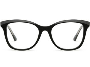 Square Plastic Frame Spring Loaded Prescription Glasses Light Square Black Blue