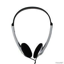 Stereo Headphones / On-Ear Lightweight / 3m Long Lead 300cm PC/Skype/Laptop/TV