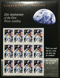 1994 Scott #2841 - 29¢ FIRST MOON LANDING - Full Sheet of 12 Stamps - Mint NH