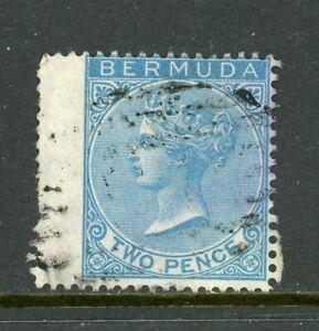 Bermuda Scott #2 USED Queen Victoria 2p blue CV$40+ ISH-1