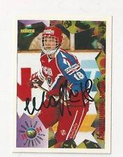 1994 Score Autographed Hockey Card Vadim Sharifjanov Team Russia
