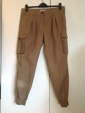 Burberry Brit military style trousers khaki green cargo cuff pants, size 12