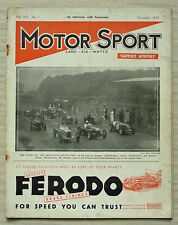 MOTOR SPORT Magazine Nov 1935 FRAZER NASH BMW Railton ROLLS ROYCE Donington GP