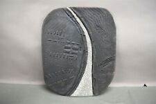 Mike Bose Clay Sculpture Gray 2000 Crackle Design Flat Wall Hanging