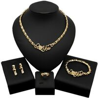 #48 HUGS & KISSES xo Set Necklace bracelet Earrings 18k Layered Real Gold Filled