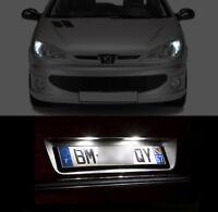 5 ampoules à LED blanc intérieur + veilleuses + feux de plaque  Peugeot 206