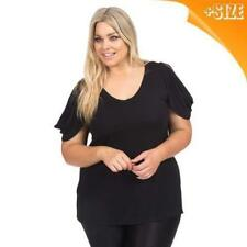 Autograph Plus Size Solid Tops and Blouses for Women