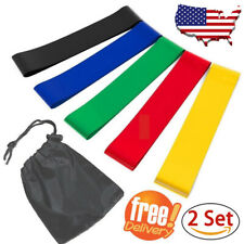 2 Set Resistance Bands Exercise Stretch Bands Loops for Fitness Home Gym Workout