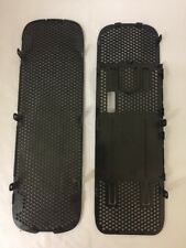 XBOX 360 OFFICIAL OUTER CASE SHELL REPLACEMENT TOP AND BOTTOM GRILLS BLACK
