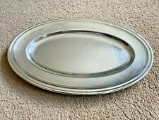 Art Deco Christofle Large Serving Tray Oval Platter Silver Plated Antique French