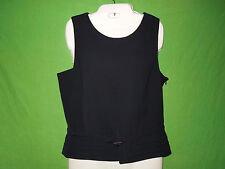 Bandolera Woman black sleeveless top blouse lining polyester size 12 UK/14 UK