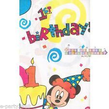 DISNEY BABIES Mickey and Minnie's 1st Birthday PAPER TABLE COVER ~ Party Vintage