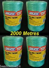 Bulk 2000 Metres Baling Twine / String (4 x 500 Metre Rolls)